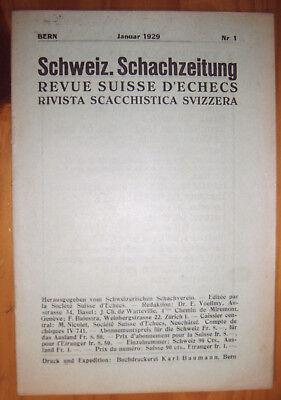 Begeistert Schach Zeitung 1929 Schweiz