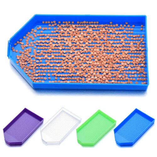 Large Capacity Square Plastic Drill Plate Diamond Painting Tool Tray Plate~