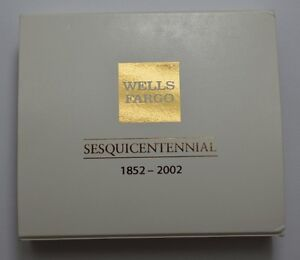 Wells Fargo 150th Ann 1852 2002 1 Troy Oz 999 Silver Proof