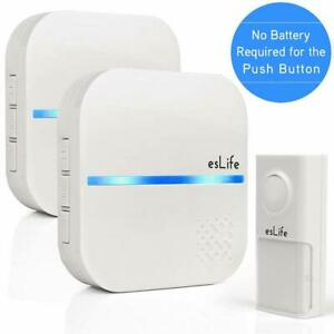 No-requiere-de-bateria-inalambrico-timbre-boton-de-1-Auto-generar-energia-con