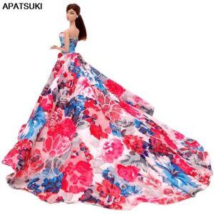 Floral-Dress-for-Barbie-Dolls-Outfits-Clothes-1-6-BJD-Dolls-Formal-Wedding-Dress