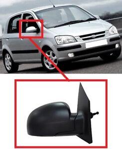Para-Hyundai-Getz-2002-2005-Manual-Del-Espejo-De-Ala-Exterior-Negro-Derecho-O-S-LHD