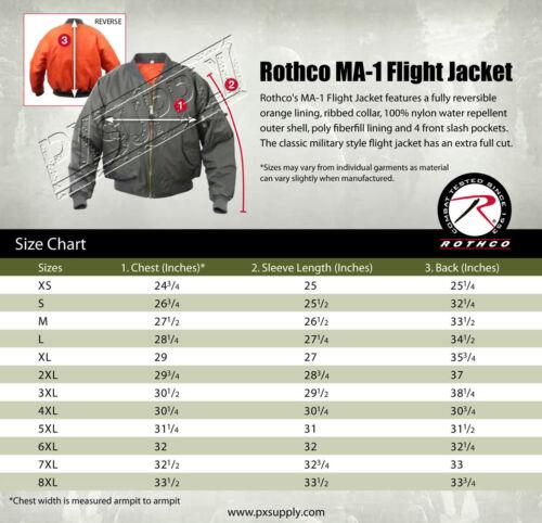 Mens Navy Blue Jacket Lightweight MA-1 Flight Military Bomber Style Rothco 6330