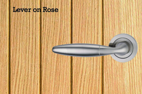 Bolt through Fixings for Door handles lever on rose or lever on Backplate