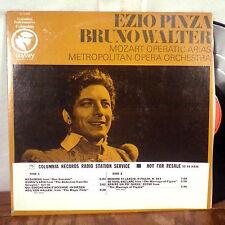 Bruno Walter Ezio Pinza Mozart Operatic Arias Promo LP Columbia Odyssey M-