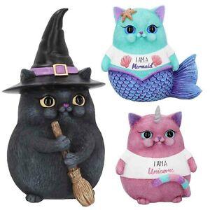 Nemesis-Now-Snapcat-Unicorno-Sirena-Fairy-Lucky-Streghe-Gatto-Ornamento-Figurina