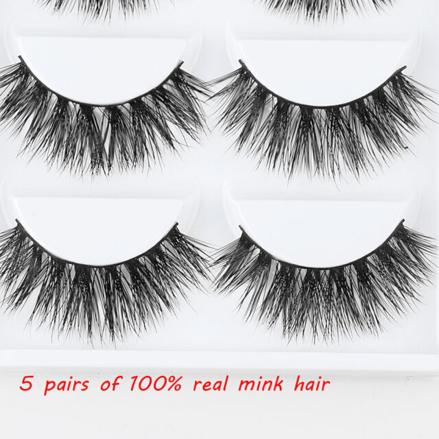 10 Pairs Luxurious 100 Real Mink 3d False Eyelashes Natural Wispy