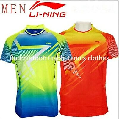 Free NEW LINING Games men's table tennis Badminton clothes Only T shirt 36117