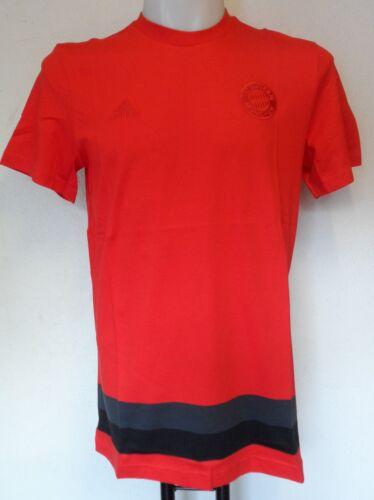 Bayern Munich Rouge Anthem Tee shirt par ADIDAS taille homme L neuf