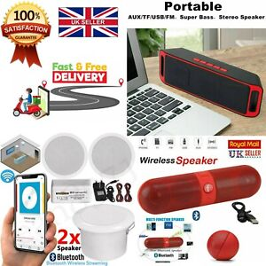 """Portable Wireless Bluetooth Speakers And Ampiler System 5"""" 60w Steero Enhansed"""