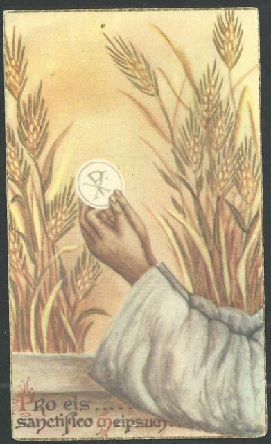 Estampa antigua de la Eucaristia andachtsbild santino holy card santini