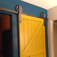 Sliding Barn Door Hardware Kit | 6ft - 12ft Rustic Black Raw Steel Vintage Usa