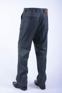 Farah Stilwell Trousers Charcoal Grey Chevron Easy Care Lightweight W34 L29 BNWT