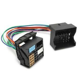 KFZ-PKW-Auto-Quadlock-auf-MIB-MQB-Adapter-Aux-Stecker-Kabel-fuer-VW-MFD3-RNS-RCD
