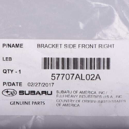 OEM 2015-2018 Subaru Front Bumper Right Corner Bracket Legacy Outback 57707AL02A
