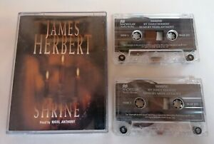 AUDIO-BOOK-CASSETTE-Shrine-By-James-Herbert-Read-By-Nigel-Anthony-X2-Tapes