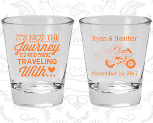 Wedding Shot Glasses.Details About Wedding Shot Glasses Personalized Shot Glass 455 Motorcycle Wedding Favors
