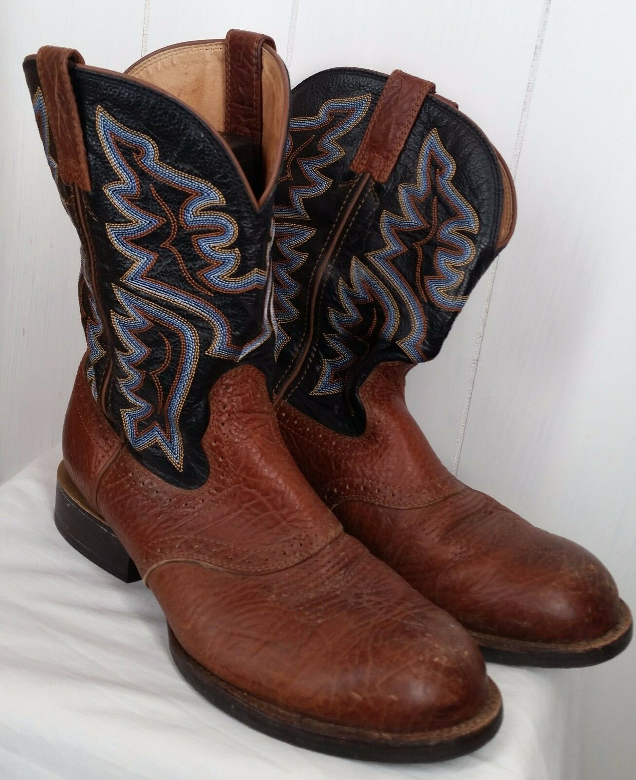 Twisted X Men's brown leather western cowboy embroidered Brown MCM0003 Size 10EE
