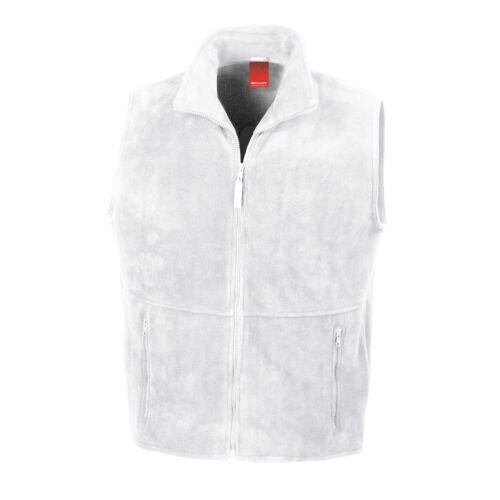 WARM ZIP UP ACTIVE FLEECE BODYWARMER GILET WHITE XS to XXL GOOD FOR BOWLS JACKET
