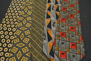Lot-of-5-ALEXANDER-JULIAN-Neckties-incredibly-cheap-price-Grab-it-D3