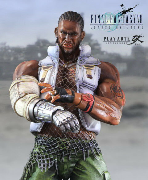Barret Wallace Final Fantasy 7 Play Arts Kai Official Merchandise New Sealed