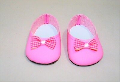 """Fits American Girl Doll Our Generation 18/"""" Dolls Clothes Shoes Pink Slip On"""