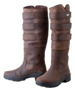 SALE-Rhinegold-Colorado-Leather-Ladies-Yard-Country-Boots-Fully-Adjustable-Calf