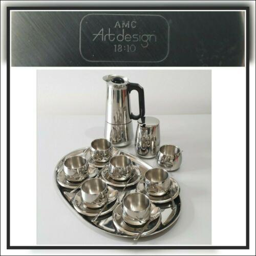 AMC Kaffeeservice Art Design Kaffeegeschirr 21 teilig um 1970 #9013