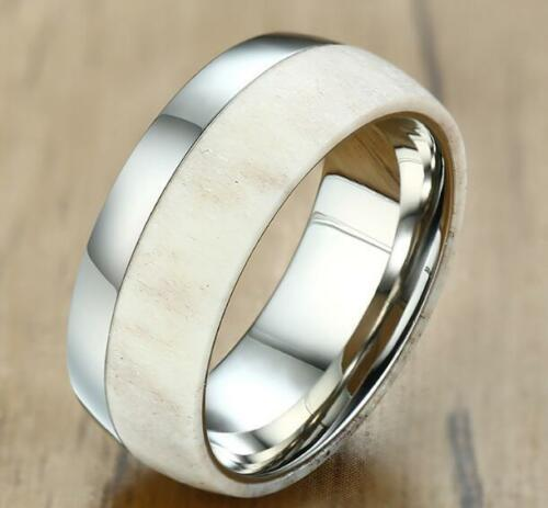Acier Inoxydable Simple Fashion New Environmentally Friendly Antler Smooth Ring