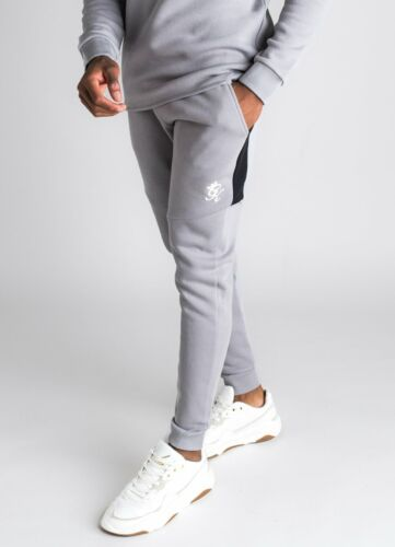 Silver Grey//Dark Grey//Black Gym King Core Plus Contrast Tracksuit Bottoms