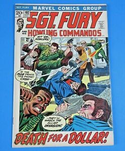 SGT-FURY-And-His-HOWLING-COMMANDOS-102-COMIC-BOOK-Marvel-BRONZE-AGE-VF