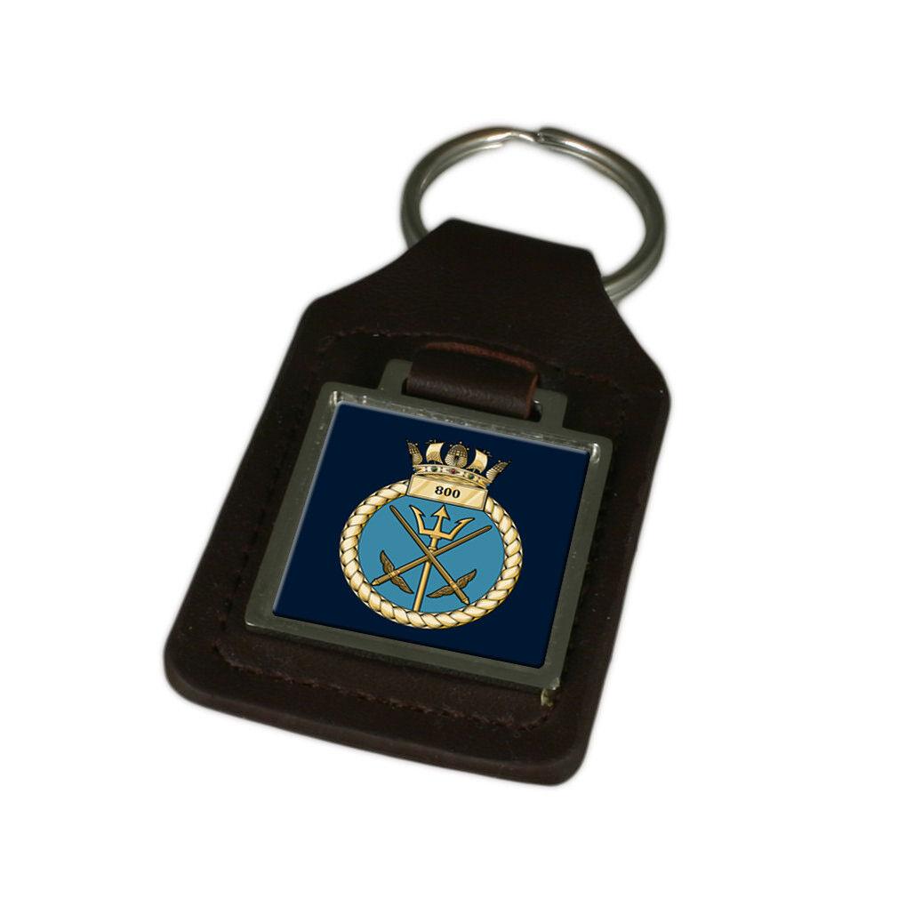 Königliche Marine 800 Fleet Air Arm Graviert Schlüsselanhänger aus Leder | Das hochwertigste Material