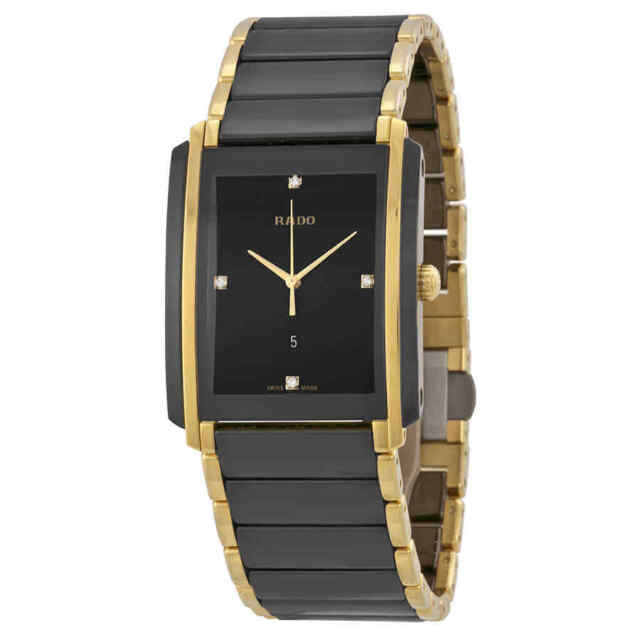 55de3a4eb Rado Integral L Jubile Black Dial Ceramic SS Quartz Men's Watch R20204712