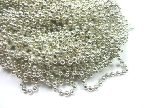 5m bala cadena color plata 2,4mm #14 precio básico 1m = 0,76 €