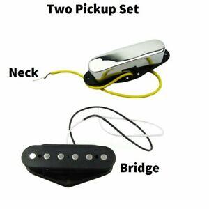 telecaster pickup set pair tele guitar pickups bridge neck chrome 722851401132 ebay. Black Bedroom Furniture Sets. Home Design Ideas