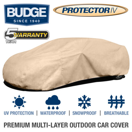 Budge Protector IV Car Cover Fits Chevrolet El Camino 1965|Waterproof|Breathable