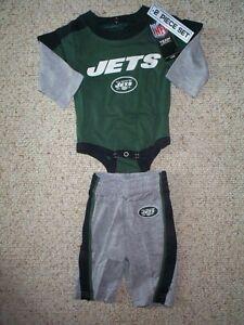 G NFL NY New York Jets Baby Romper Sleeper Size 6//9M Newborn Infant