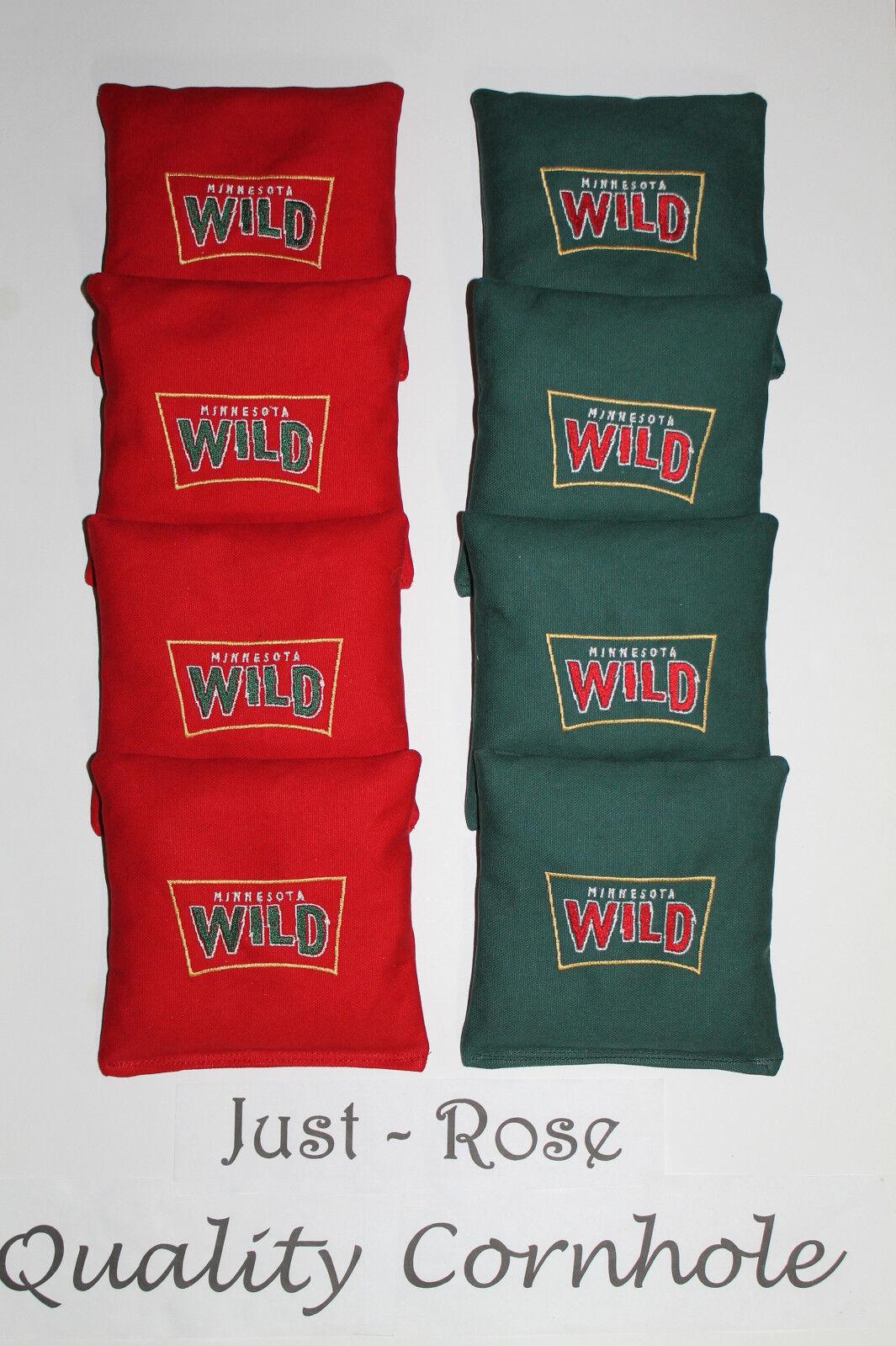 MINNESOTA  MN WILD NHL Cornhole ACA REGULATION Bean Corn TOSS Bags EMBROIDERED  fitness retailer