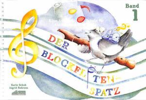 Schule für die Sopranblockflöte CD Der Blockflötenspatz Band 1 1 Bleistift