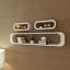 Set of 3 MDF Floating Wall Shelves Storage Book CD Display Shelf Cubes Square UK