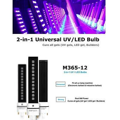 365+405nm Replace 9W UV LED Lamp Bulb For UV Lamp Nail Dryer Machine M365-12
