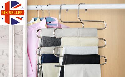100% Vero Acciaio Inossidabile Pantaloni/jeans Grucce Abiti Armadio Organizer-