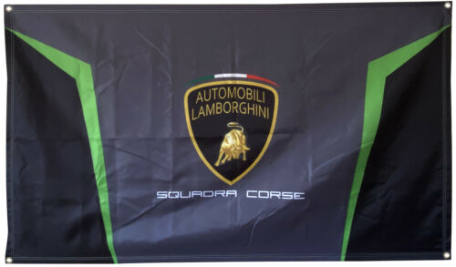 Lamborghini Squadra Corse Flag Banner College Dorm Frat or Man Cave  3x5Ft