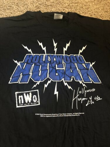 Men's Black Vintage NWO WCW Hollywood Hogan Shirt