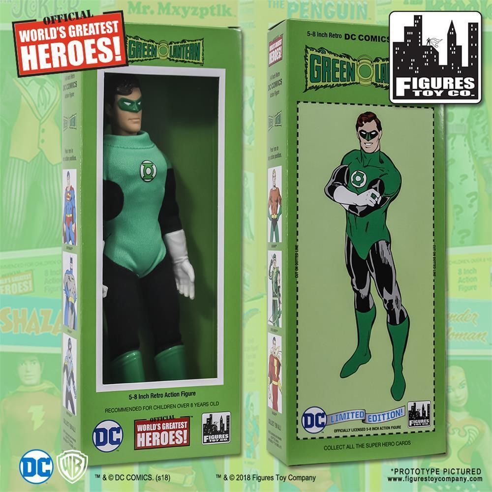 DC Comics retro GREEN LANTERN 8 Inch action figure with classic retro styled box