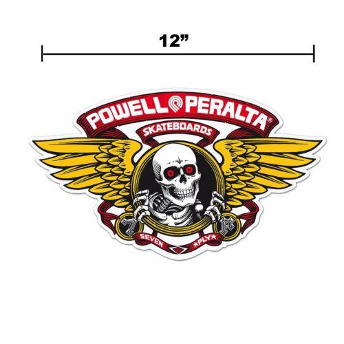 Powell Peralta Winged Ripper 12 Inch Die Cut Sticker Red Old School Skateboard
