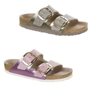 6b7f3f7baed4 Image is loading Birkenstock-Arizona-Big-Buckle-Natural-Leather -Ceramic-Pattern-