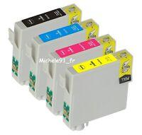 2x5 Cartouches D'encre Non-oem Pour Epson Pour Imprimante Sx115