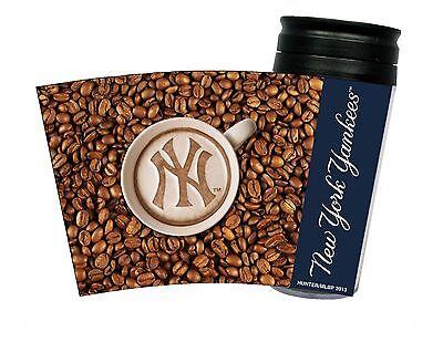 NEW YORK YANKEES LATTEAM COFFEE ART 16oz TRAVEL TUMBLER