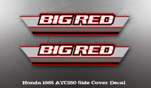 HONDA 1985 ATC250 BIG RED SIDE COVER DECAL LIKE NOS OEM GRAPHICS